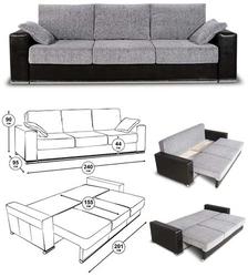 Принципы трансформации домашней мебели. Механизм трансформации - диван-кровать
