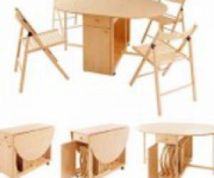 Стол трансформер со стульями