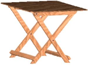 Маленький раскладной столик своими руками