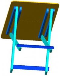Маленький раскладной столик: Размеры перекладин