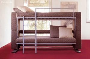 Диван двухъярусная кровать в расложеном виде