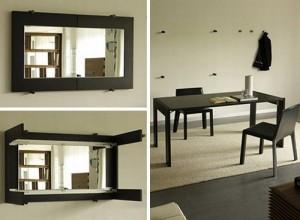 Раскладной обеденный стол зеркало