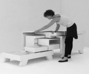 оригинальный стол трансформер от немецкого дизайнера Мартина Земмера