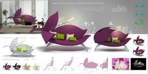 Трансформирующийся цветочный диван
