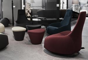 Оригинальные кресло-качалка и многофункциональный пуф из Голландии