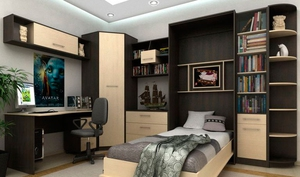 Удобный шкаф-кровать трансформер